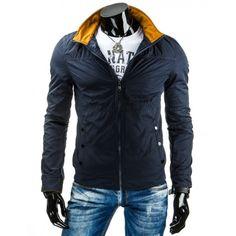 Jednoduchá tmavo modrá prechodná bunda bez kapucne pre pánov - manozo.cz Nike Jacket, Jackets, Fashion, Moda, Fashion Styles, Fashion Illustrations, Jacket, Fashion Models, Suit Jackets