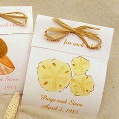 beach wedding favors | Seashell Wedding Mints - Beach Wedding Favors