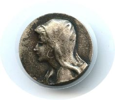 Metal picture button. Researching this button, calling it Austrian Gypsy for now.