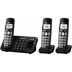 Panasonic Bluetooth Expandable Digital Cordless Phone with Answering System - 6 Handset Bluetooth, Id Digital, Cordless Telephone, Phones For Sale, Thing 1, Caller Id, Office Phone, Cool Things To Buy, Stuff To Buy