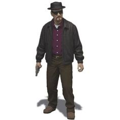 "Mezco Toyz Breaking Bad Heisenberg Walter 6"" Action Figure"