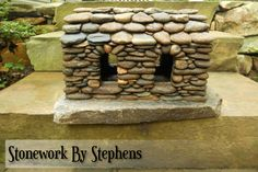BUILDING STONE HOUSES AS LITTLE AS POSSIBLE SINCE 1995 Thank you for visiting my miniature page. I began building miniature stone houses more than twenty years ago. Constructed dry-stack style with…