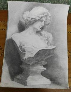 Greek mythology plaster sculpture