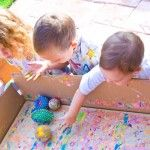 Cute ideas related to painting with balls