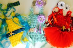 The Little Mermaid Inspiered Ariel, Flounder, and Sebastian Set. Birthday Party. Halloween Costume . The Little Mermaid Birthday Party. by LovCouture on Etsy