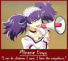I dont mind 9th. Shes quite a cool character. I mean. Look what she says in the Anime!