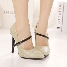 Thin Strap Pointed Toe High Heel Shoes