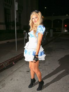 Paris Hilton is seen in her Halloween costume on October 29, 2016.