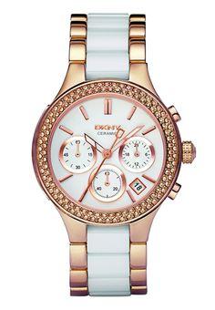 DKNY CHAMBERS Zegarek chronograficzny rosegoldcoloured