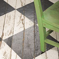 it's all in the details -- bold pattern painted on the porch's wood floors