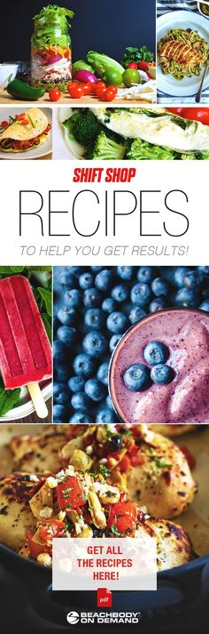 Want to try Beachbody's newest program, The Shift Shop? Check out these 81 recipes to try for success! how to lose weight fast // best wei. Southern Cooking Recipes, Easy Cooking, Healthy Cooking, Healthy Snacks, Healthy Eating, Healthy Recipes, Fast Good, Best Weight Loss Program, Easy Smoothies