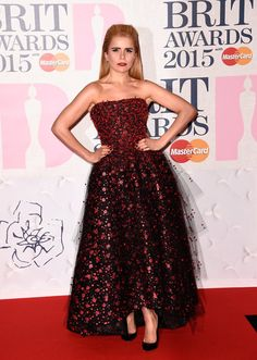 Pin for Later: The Brit Awards Red Carpet Was More Glamorous Than Ever This Year Paloma Faith Paloma eschewed her usual dramatic hairstyles for a softer look, letting her dramatic Armani Prive dress take all the attention instead.