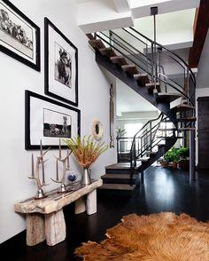 Bond Street Penthouse |Architectural Digest Feature - Link in Bio @archdigest  #nickjohnson #Huniford #interior #interiordesign #architecturaldigest #healthyliving #hunifordcollection #health #wellness #fengshui #retreat #newyork #zenden #urban #mindfullness #electromagnetic #eco #ecofriendly #buildingbiology #serene #penthouse #staircase #petrifiedwood #steel #concrete #peterbeard #loft #reclaimedwood