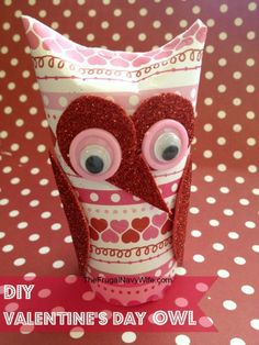 Thrifty Valentine's Day Fun: DIY Sweetheart Owl