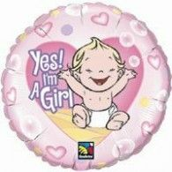Folie ballon Yes I am a girl Order Balloons, Send Balloons, Balloons Online, Heart Balloons, Birthday Balloons, Helium Balloons, Foil Balloons, Latex Balloons, Globes