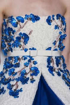 blue details. giambattista valli fall 2014 couture.
