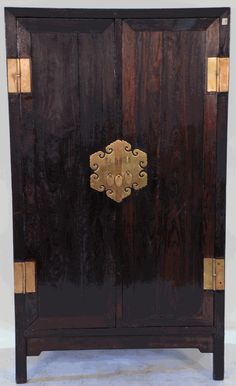 Hardware is the highlight. Antique Asian Furniture: Antique Chinese Armoire Cabinet from Northern China (Shanxi or Beijing) Japanese Furniture, Asian Furniture, Chinese Furniture, Oriental Furniture, Oriental Decor, Brown Furniture, Teak Furniture, Luxury Furniture, Outdoor Furniture