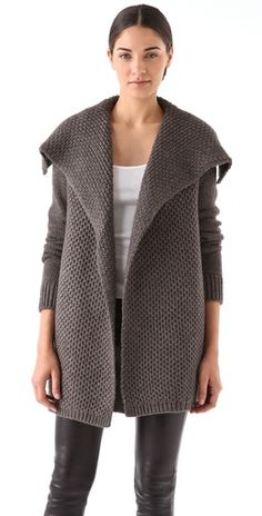 honeycomb jacket for transitional dressing (via @Shopbop)