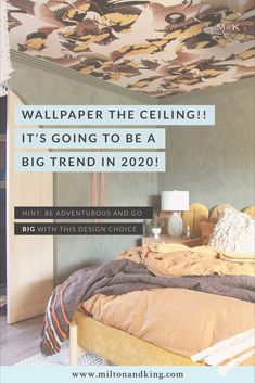 A stunning example of what can be achieved by adding wallpaper to your ceiling. The dark bronze tones blend in perfectly with Cranes Wallpaper, playing off all the dark and moody colors of the room. Perfectly adding depth and interest to such a large blank area.