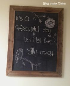 So I decided it was at least time to fake it with some Spring decor in my family room! Homemade Chalkboard, Chalkboard Decor, Chalkboard Lettering, Chalkboard Quotes, Chalkboard Drawings, Chalk Drawings, Chalk Wall, Chalk Board, Antique Booth Ideas