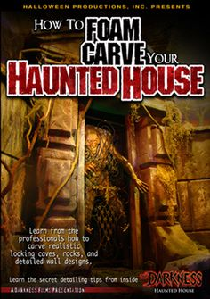 How To Foam Carve Your Haunted House Dvd By Halloween Productions, Inc. Haunted House Props, Halloween Haunted Houses, Halloween House, Holidays Halloween, Scary Halloween, Halloween 2019, Halloween Graveyard, Haunted Hotel, Halloween Halloween