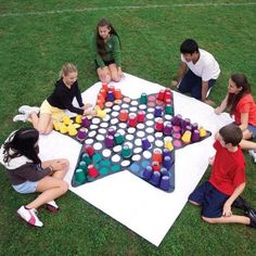Giant Chinese Checkers using Cups...these are the BEST Backyard Game Ideas for Kids & Adults!