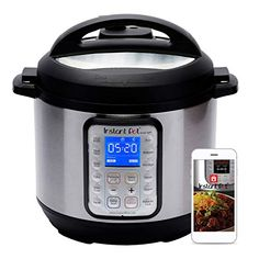The Instant Pot Smart WiFi has arrived on the Kitchen scene! Designed with a large display screen, Stainless Steel Cooking Pot, 6 Quart, 1000 Watts. Plus, with the Instant Pot APP new recipes are added daily to provide you with the dishes you crave. Pressure Cooker Cookbook, Pressure Cooking, Electric Pressure Cooker, Instant Pot Pressure Cooker, Rice Cooker, Slow Cooker, Healthy Taco Soup, Best Cooker, Pots