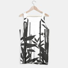 Black Bamboo Tank Top #bamboo #nature #black #decor #clothing #apparel #liveheroes #shop #store #brand #oriental