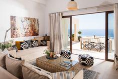 Lovely Villa Thetis in Sfakia. www.almyra.no/en/thetis Greece, Divider, Villa, Room, Furniture, Home Decor, Greece Country, Bedroom, Decoration Home