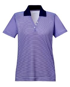 LADIES' SNAG PROTECTION STRIPED POLO