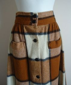 Vintage Summit of Boston Plaid Wool Skirt on Etsy, $72.54 CAD