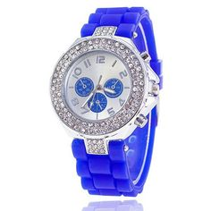 Womens Sporty Jelly Silicone Casual Watch