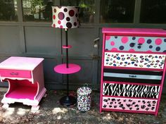 DIY girls room furniture by CarrieConfetti - Please Visit my Facebook page and like/share to help me get my work out into the world! Thank you!  Www.facebook.com/carrieconfettiart