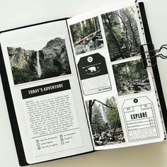 January Traveler's Notebook by mamaorrelli at Studio Calico scrapbook journal Album Journal, Photo Journal, Scrapbook Journal, Journal Layout, Travel Scrapbook, Bullet Journal Inspiration, Journal Pages, Journal Ideas, Journal Design