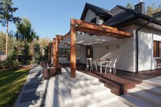 Backyard Pavilion, Backyard Patio Designs, Outdoor Pergola, Pergola Designs, Diy Patio, Backyard Landscaping, House Fence Design, Yard Design, Cedar Paneling