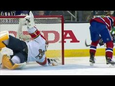 Panthers goalie Roberto Luongo dives at full extension to rob Canadiens forward Jiri Sekac with an acrobatic save in the Discover NHL Shootout Competition. Hockey News, Florida Panthers, Vancouver Canucks, Nhl, All Star, Competition, Bobby, Star
