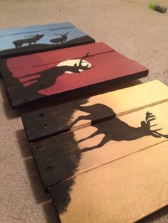 Part 1 of our Silhouette Series is Country Love. Hand painted on reclaimed pallet wood to give you the ultimate rustic feel! These are approx. - 2019 Home Ideas Pallet Crafts, Pallet Projects, Wood Crafts, Woodworking Projects, Art Projects, Diy And Crafts, Pallet Ideas, Pallet Painting, Pallet Art