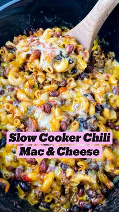 Slow Cooker Chili, Slow Cooker Recipes, Crockpot Recipes, Cooking Recipes, Healthy Recipes, Crockpot Dishes, Crock Pot Cooking, Pasta Dishes, Food Dishes