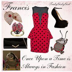 Disney Style: Francis - New Ideas Disney Mode, Disney Day, Cute Disney, Disney Style, Disney Bound, Disney Pixar, Disney Dresses, Disney Outfits, Disney Clothes