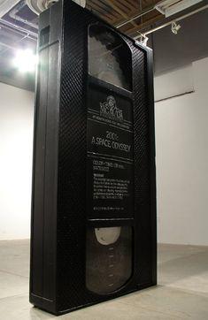 """""""VHS"""" sculpture by David Herbert. Foam, plexiglass. 2x4x8 ft. #art #sculpture #installation"""