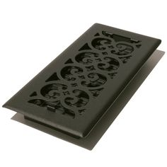 Decor Grates ST212 Scroll Floor Register, Textured Black, 2-Inch by 12-Inch