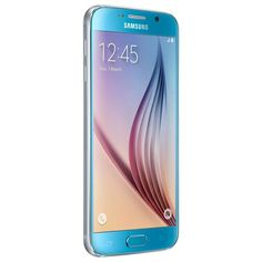 Samsung - Galaxy S6 4G with 32GB Memory Cell Phone (Unlocked) - Blue - Alternate View 12