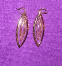 Beautiful detailing in these new with tag earrings priced at $22.oo  Look at the shine and lsuter,   and these come with the great superior finish of all Monet products   so these will last for years to come as long as you don't wear them into the sh... $11.99