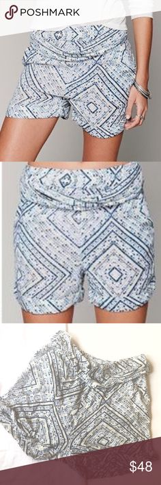 Free People Bohemian Loose Shorts Matching Belt. Cute and great condition! Belt attached. Super soft material. Fits a medium. Free People Shorts