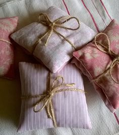 Vintage and Upcycled Fabric Lavender Sachets by gillyflowerdesigns on Etsy