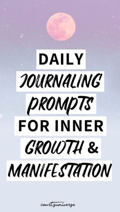 Journaling is one of the BEST ways to grow & create your dream reality. I'm sharing 10 journaling prompts you can use daily for inner growth & the manifestation of your dreams. Manifestation Journal, Manifestation Law Of Attraction, Law Of Attraction Tips, Attraction Quotes, Spiritual Manifestation, Daily Journal Prompts, Journal Ideas, Journal Inspiration, How To Journal