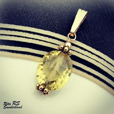 Yellow topaz pendant follow me on instagramm @ritasunderland