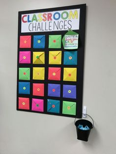 Put different challenges in each pocket every month. Put different challenges in each pocket every month. Classroom Rewards, Classroom Setup, Future Classroom, Classroom Organization, Classroom Management, Classroom Reward System, Classroom Clipart, Classroom Crafts, Primary Teaching