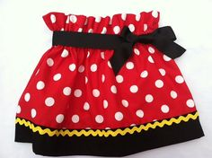 Classic Red or Pink Minnie Mouse Inspired Skirt-Disney Vacation-Minnie/Mickey Birthday Party - Picture Prop - Costume on Etsy, $24.99