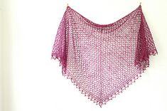 Overcast shawl PDF crochet pattern